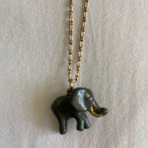 Sweet JCrew elephant necklace
